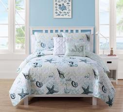 Ocean Coastal Bedding Set Full Queen Quilt Comforter Beach S