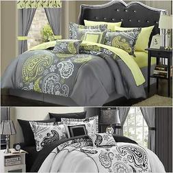 Chic Home Olivia 20 Piece Comforter Set Reversible Paisley P