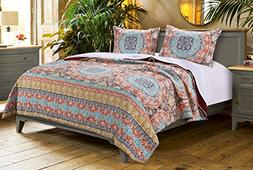 Barefoot Bungalow Olympia Quilt Set, 3-Piece, King