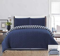 Chic Home 2 Piece Ora Heavy Embossed and Embroidered Quilted