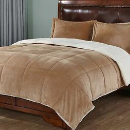 Ebern Designs Oritz 3 Piece Reversible Comforter Set Gold Ki