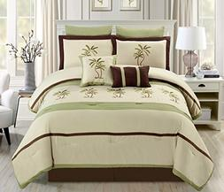 oversize sage green beige brown
