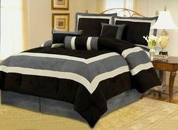 OctoRose Oversize Soft Micro suede Comforter Set  sage, aqua