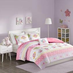 Comfort Spaces - Owl Kid Comforter Set - 3 Piece - Owl Flowe
