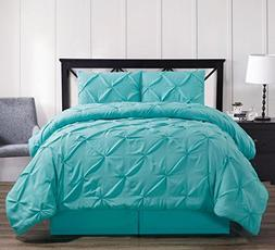 Royal Hotel Oxford Decorative Pinch Pleat Comforter Set, 3 P