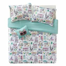 Comfort Spaces Paco 3 Piece XL/Twin Comforter Set Kitty Cat