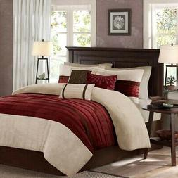 Madison Park - Palmer 7 Piece Comforter Set  -Red  - King -