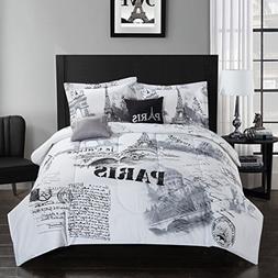 Casa Paris Comforter Set, King, 5 Piece