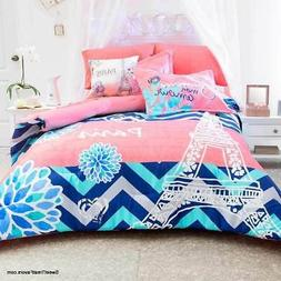 Paris Tower Teens Comforter Bedding Bedroom Bedspread Junior