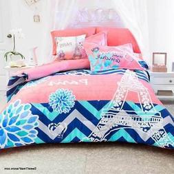 Paris Tower Teens Comforter Bedding Bedroom Bedspread Junior