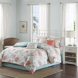 Madison Park - Pebble Beach 7 Piece Cotton Comforter Set - C