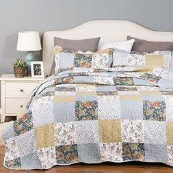 patchwork bedding quilt set luxury