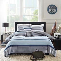 Intelligent Design Paul 4 Piece Comforter Set, Blue, Twin/Tw