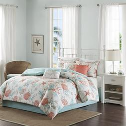 Madison Park Pebble Beach Cal King Size Bed Comforter Set Be