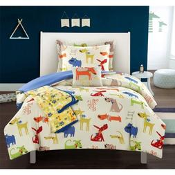 Pet Land 4 Piece Comforter Set Puppy Dog Theme Youth Design