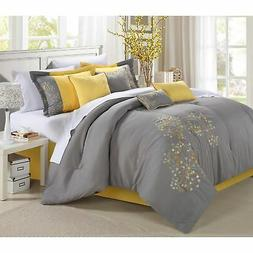 Chic Home Petunia 12-Piece Bed in a Bag Comforter Set Yellow