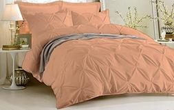 SunShine Bedding Pinch Pleated Duvet Cover Set With Zipper &
