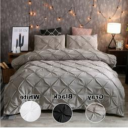 Pinched Pleat Down Alternative Comforter Set King Queen Size