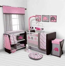 Pink Baby Girl Crib Bedding Set 10 Cotton Blanket Sheet Comf