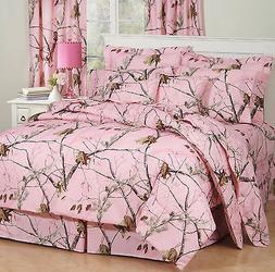 Realtree Pink Camo Comforter Set, Camouflage Bedding