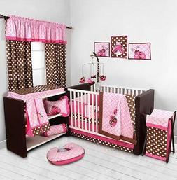 Pink Ladybug Baby Girl Crib Bedding Set Blanket Sheet Comfor