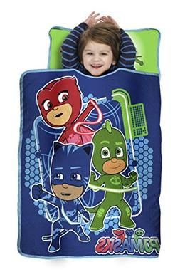 PJ Masks All Shout Horray Toddler Nap Mat - Includes Pillow