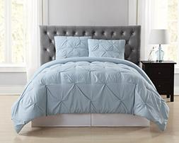 Truly Soft Everyday Pleated Comforter Set, Full/Queen, Light