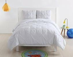 Laura Hart Kids Pleated Solid White XL Comforter Set, Twin X