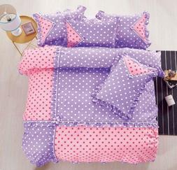 Polka Dot Cotton Touch  Comforter Set W/ Sheet HIGH QUALITY
