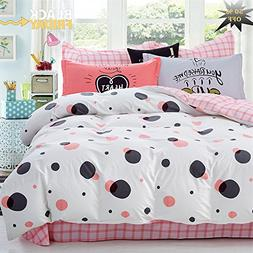 FenDie Polka Dot Queen Bedding Duvet Cover Set-1 Comforter C