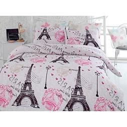 "Polycotton Paris Eiffel Themed Twin/Single Size 63""x87""inch"