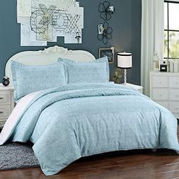 Simple&Opulence Polyester Microfiber 3 Piece Teal Sweet Bedd