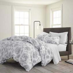 Porch & Den Legend Grey Floral Organic Cotton Comforter Set