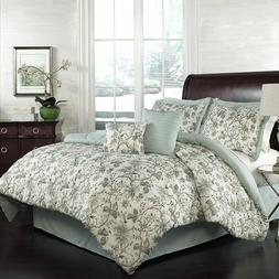 Premium Comforter Set, 100% Polyester, 6 Pieces, Bed in a Ba
