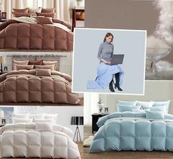 Premium Goose Down Comforter750+FP 100%Cotton Shell a free d