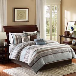 Madison Park Princeton Cal King Size Bed Comforter Set Bed I