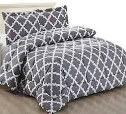 Utopia Bedding Printed Comforter Queen Set with 2 Pillow Sha