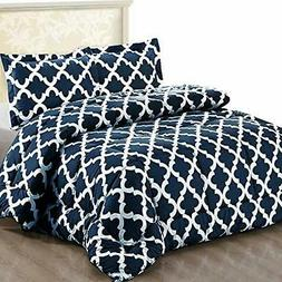 Utopia Bedding Printed Comforter Set with  Pillow Shams