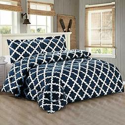Utopia Bedding Printed Comforter Set  with 2 Pillow Shams -