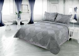 Printed Reversible Soft Bedding Comfort Bedspread Coverlet 3
