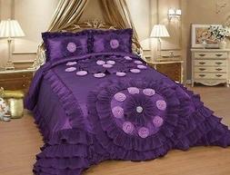 Purple Wedding Bedding Oversize Comforter Bedspread Quilts S