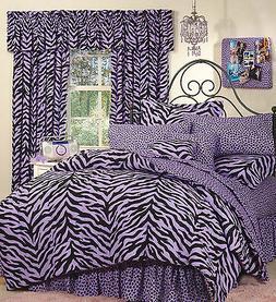 Purple Zebra 6 Pc EXTRA LONG TWIN Comforter Set & Set of 2 V