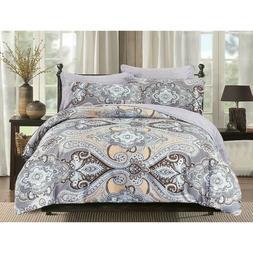 HGmart Queen Bedding Comforter Set Bed In A Bag 5Pcs100% Pol