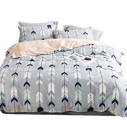 EnjoyBridal Geometric Teens Bedding Duvet Cover Sets Full Co