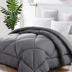 TEKAMON Queen Comforter Soft Quilted Down Alternative Duvet