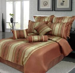 9 Piece Queen Jane Jacquard Bedding Comforter Set