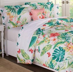 Queen or King Size Comforter Set Floral Hummingbird Garden B