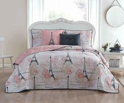 Queen Quilt Comforter Set 5 Piece King Paris Home Bedding Co