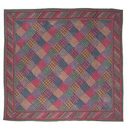 queen tartan log cabin quilt