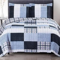 Quilt Coverlet Shams Set 3 Piece Full Queen Size Soft Bed Sp